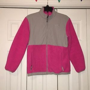 KIDS pink North Face jacket